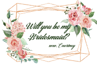 Wedding Mini Wine Label - Copper Geometric Watercolor Roses