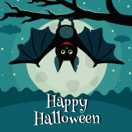 Holiday Sticker - Halloween Bat