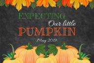 Baby Growler Label - Our Little Pumpkin