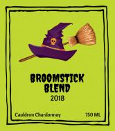 Holiday Wine Label - Broomstick Wine