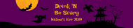 Holiday Water Bottle Label - Haunted House