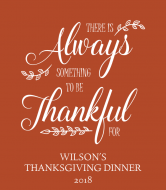 Holiday Wine Label - Always Thankful