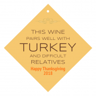 Holiday Wine Hang Tag - Turkey and Difficult Relatives