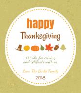 Holiday Wine Label - Gratitude