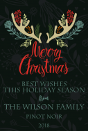 Holiday Large Wine Label - Christmas Antlers