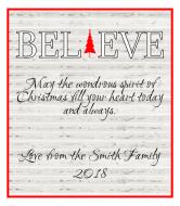 Holiday Wine Label - Believe