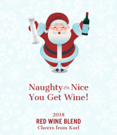 Holiday Wine Label - Santa's List