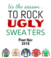 Holiday Wine Label - Ugly Sweaters