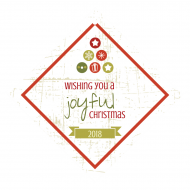 Holiday Wine Hang Tag - Joyful Christmas