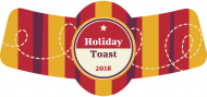 Holiday Bottle Neck Label - Holiday Toast