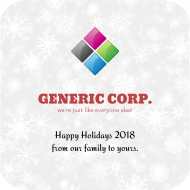 Holiday Drink Coaster - Generic Holiday