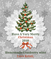 Holiday Wine Label - Classic Christmas