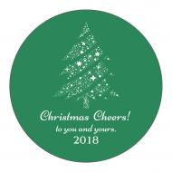 Holiday Sticker - Christmas Night