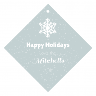 Holiday Wine Hang Tag - Holiday Snow