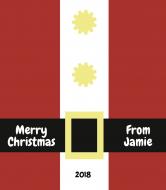 Holiday Wine Label - Santa Suit