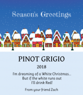 Holiday Wine Label - Silent Night