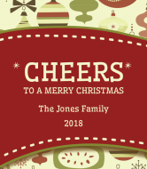 Holiday Wine Label - Christmas Cheers
