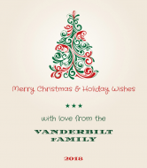 Holiday Wine Label - Holiday Wishes