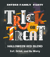 Holiday Wine Label - Trick or Treat