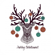 Holiday Drink Coaster - Christmas Deer