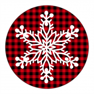 Holiday Canning Label - Snowflake Plaid