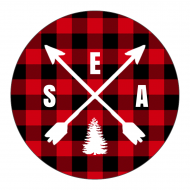 Holiday Sticker - Buffalo Plaid Arrows