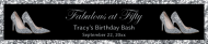Birthday Water Bottle Label - Silver High Heels