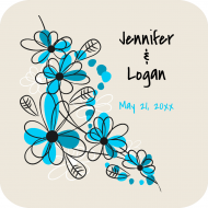 Wedding Drink Coaster - Floral