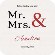 Wedding Drink Coaster - Mr & Mrs