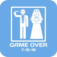 Wedding Drink Coaster - Game Over
