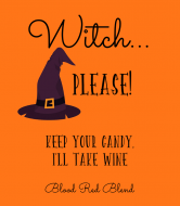 Holiday Wine Label - Witch Please