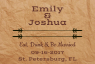 Wedding Mini Liquor Label - Paper Bag