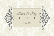 Wedding Mini Wine Label - Classic Wedding