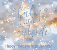Holiday Beer Can Label - Baby It's Cold Outside Snowflakes