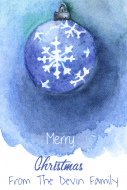Holiday Mini Wine Label - Watercolor Snowflake Ornament