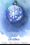 Holiday Mini Wine Label - Watercolor Snowflake Ornament