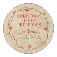 Holiday Canning Label - Christmas Preserves