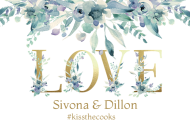 Wedding Mini Wine Label - Gold Love Letters