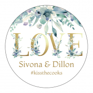Wedding Sticker - Gold Love Letters