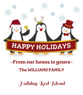 Holiday Wine Label - Penguin Greetings