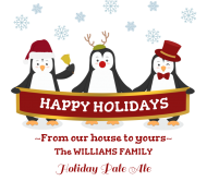 Holiday Beer Can Label - Penguin Greetings