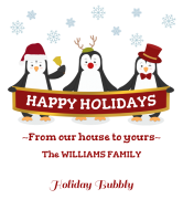 Holiday Champagne Label - Penguin Greetings