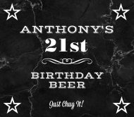 Birthday Beer Label - All Star