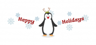 Holiday Bottle Neck Label - Penguin Greetings