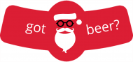 Holiday Bottle Neck Label - Hipster Santa