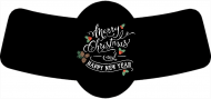 Holiday Bottle Neck Label - Holiday Greetings