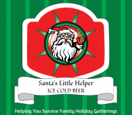 Holiday Beer Label - Santa's Helper