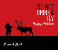 Holiday Beer Label - Drink & Fly