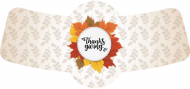 Holiday Bottle Neck Label - Thanksgiving Frame
