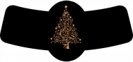 Holiday Bottle Neck Label - Copper Christmas Tree